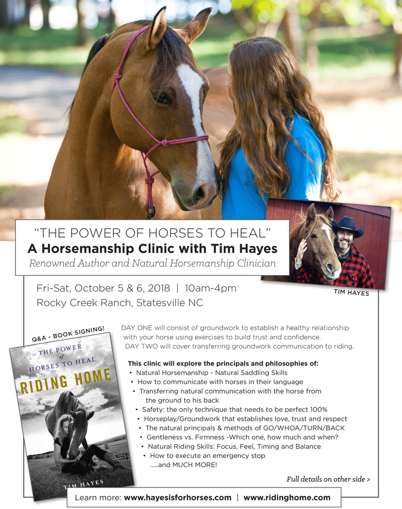 Tim Hayes Clinic, The Carolinas Equestrian.